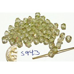 S943 Swarovski Bicone Bead CRYSTAL LUMINOUS GREEN 5mm