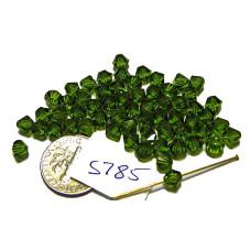 S785 Swarovski Crystal Bicone Bead OLIVINE 5mm
