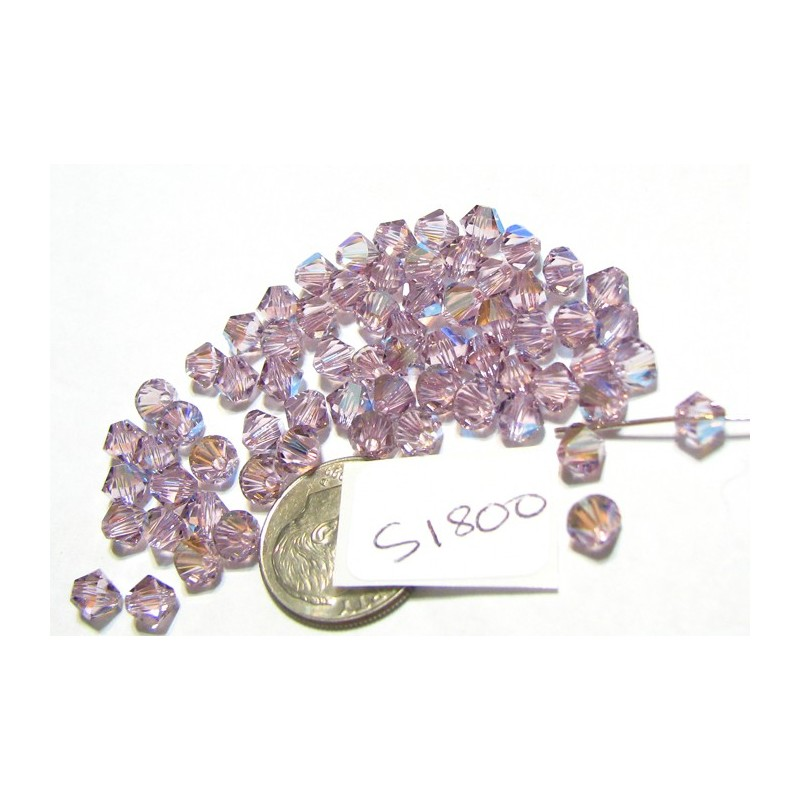 S1800 Swarovski Bicone Bead LIGHT AMETHYST AB 5mm