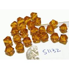 S1132 Swarovski Crystal Bicone Bead TOPAZ 8mm