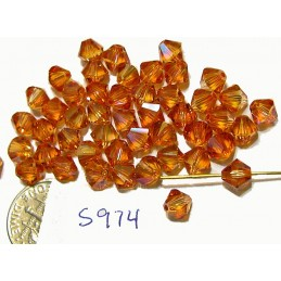 S974 Swarovski Bicone Bead CRYSTAL CHILI PEPPER 6mm