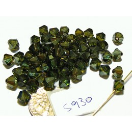 S930 Swarovski Bicone Bead PERIDOT BRONZE SHADE Limited Production  6mm