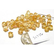 S1756 Swarovski Crystal Bicone Bead BRANDY COATED 6mm