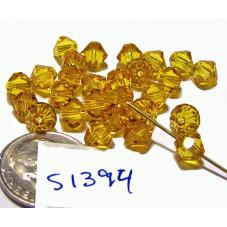 S1394 Swarovski Crystal Bicone Bead SUNFLOWER  6mm