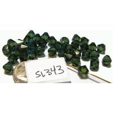 S1343 Swarovski Crystal Bicone Bead  TURMALINE  6mm