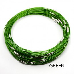 GREEN Stainless Steel Choker Screw Clasp 18 inch