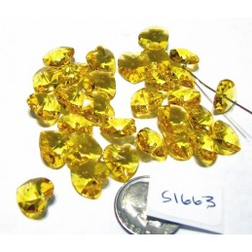 S1663 Swarovski Crystal Heart Pendant 6202 LIGHT TOPAZ 10mm