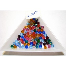 S1302 Swarovski 5000 Faceted Round Bead *NEW* COLOR MIX  4mm