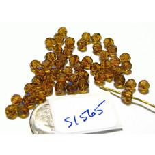 S1565 Swarovski Crystal Round Bead 5000 TOPAZ  4mm