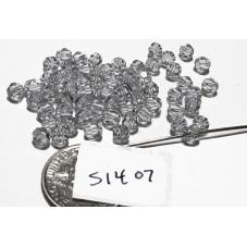 S1407 Swarovski Round Bead CRYSTAL SHADOW  4mm