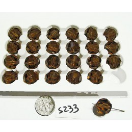 S233 Swarovski Crystal Faceted Round Bead SMOKED TOPAZ 14mm