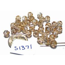 S1371 Swarovski 5000 Round Bead CRYSTAL GOLDEN SHADOW  6mm