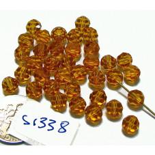 S1338 Swarovski Crystal Round Bead TOPAZ 6mm