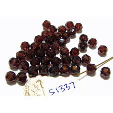 S1337 Swarovski Crystal Round Bead BURGUNDY 6mm