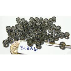 S1336 Swarovski Crystal Round Bead BLACK DIAMOND 6mm