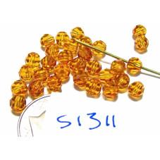 S1311 Swarovski Crystal Round Bead 5000 TOPAZ  4mm