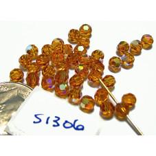 S1306 Swarovski Crystal Round Bead 5000 TOPAZ AB 4mm