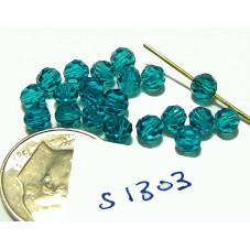 S1303 Swarovski Round Bead 5000 BLUE ZIRCON 4mm