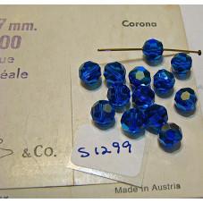 S1299 Swarovski 5000 Round Bead CAPRI BLUE AB 7mm