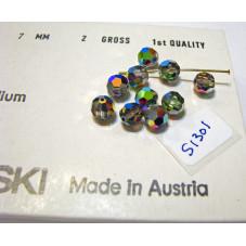 S1301 Swarovski 5000 Round Bead VITRAIL MEDIUM 7mm