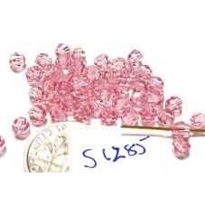 S1285 Swarovski Crystal Round Bead LIGHT ROSE  4mm