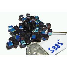 S385  Swarovski Crystal Cube 5601 BURGUNDY AB 4mm