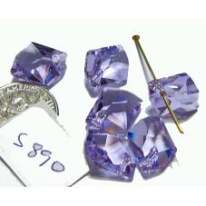 S890 Genuine Swarovski Faceted Crystal Cosmic Pendant 6680  VIOLET  14mm