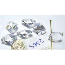 S893 Genuine Swarovski Faceted Crystal Cosmic Pendant 6680  CRYSTAL  14mm