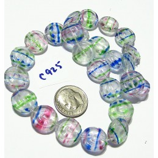 C925 Czech Glass Spiral LT MULTI COLOR 13mm