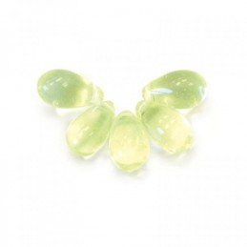 C4097 Czech Glass Teardrop Beads JONQUIL 6x9mm
