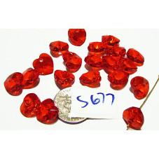 S677 Swarovski Heart Pendant 6202  LIGHT SIAM  10mm
