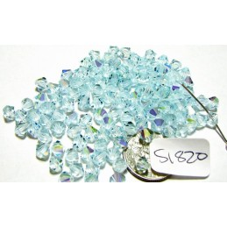 S1820 Swarovski Crystal Bicone Bead LIGHT AZORE AB 5mm