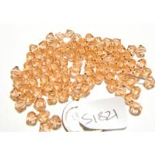 S1821 Swarovski Crystal Bicone Bead LIGHT PEACH 5mm