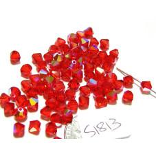 S1813 Swarovski Crystal Bicone Bead LIGHT SIAM AB 5mm