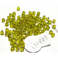 S1827 Swarovski Crystal Bicone Bead CITRINE SATIN  4mm