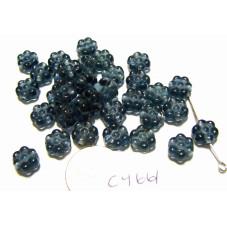 C4661 Czech Glass Flat Flower Bead MONTANA 8mm