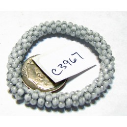 C3967 Czech Glass Forget Me Not Spacer Bead WHITE w/ SILVER  5mm