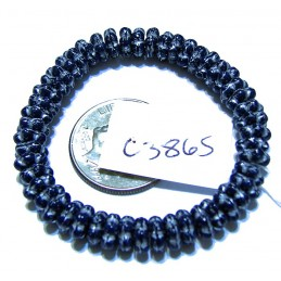 C3865 Czech Glass Forget Me Not Spacer Bead BLUE VIOLET w/ SILVER  5mm