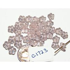 C1723 Czech Glass Flat Flower Spacer Bead ROSALINE 7mm