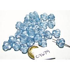 C3679 Czech Glass Trillium 3 Petal Flower Bead ALEXANDRITE 9mm